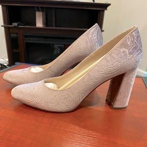 Nine West blush suede pumps